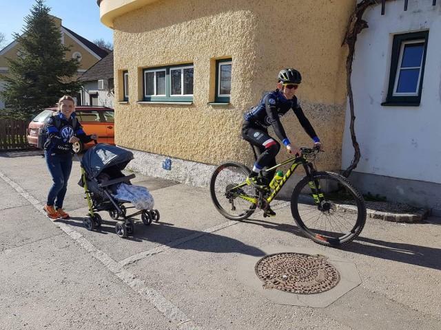 Kasia i Julek na pierwszym wyścigu MTB w tym sezonie :)