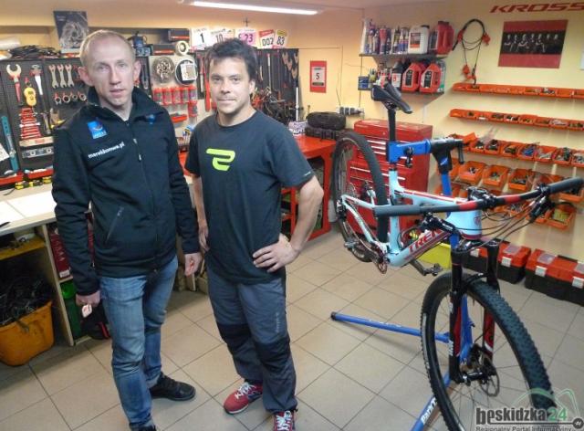 Maciej Wojtowicz ze mną u siebie w serwisie, Bike Doctor Service, Bielsko-Biała